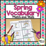 Spring Vocabulary Match and Write