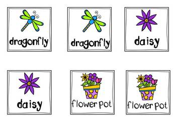 Spring Vocabulary Memory Game