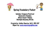 Spring Vocabulary Packet