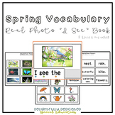"Spring Vocabulary Real Photo ""I See"" Book for Special Education Classrooms"