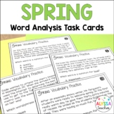 Spring Word Analysis Skills Task Cards