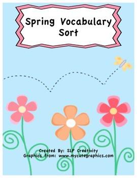 Spring Vocabulary Sort