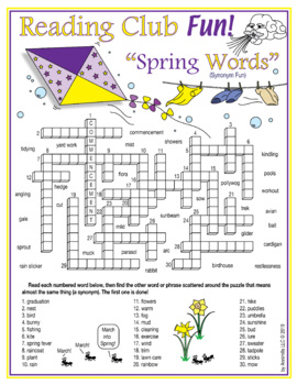 Spring Vocabulary Worksheets & Teaching Resources   TpT