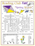 Spring Vocabulary (Synonyms) Crossword Puzzle & Word Search Puzzle