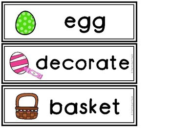 Spring Vocabulary Word Wall Cards