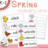 Spring Vocabulary Word Wall Cards plus Write & Wipe Version