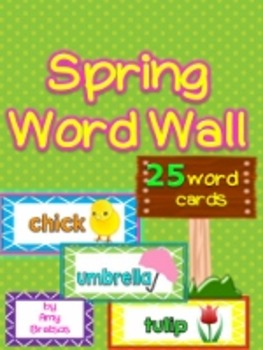 Spring Vocabulary Word Wall Word Cards