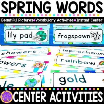 Spring Vocabulary Words (St. Patrick's Day, Easter, Earth Day, Beach) BUNDLE!!