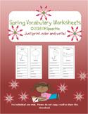 Spring Vocabulary Worksheets