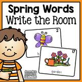 Spring Vocabulary Write the Room Cards
