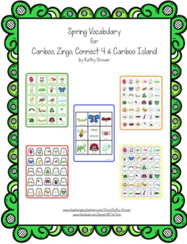 Spring Vocabulary  for Cariboo, Zingo, Connect 4 & Cariboo Island