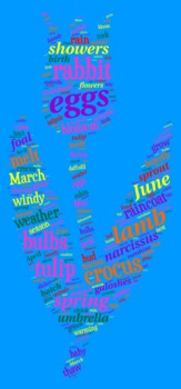 Spring Vocabulary image for Classroom Decoration Poster or Sign