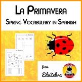 Spring Vocabulary in Spanish - Vocabulario de Primavera - Activity Pack