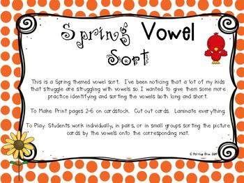 Spring Vowel Sort Center