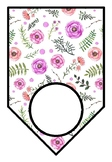 Spring, Watercolor Flowers, Classroom Decor, Blank Pennant Banner, Bunting