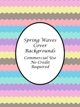 Spring Waves TpT Cover Page Backgrounds-Commercial Use