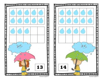 Spring Weather 10 Frame Counting Mats Bundle Set (1-20)