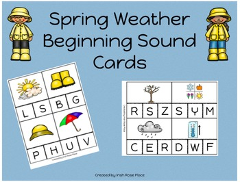 Spring Weather Beginning Sound Cards