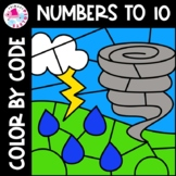 Spring Weather Color by Number Set