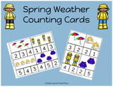 Spring Weather Counting Cards