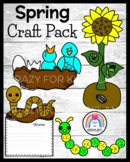 Spring Weather Craft Pack: Worm, Bird, Caterpillar, Sunflower