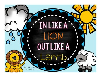 Spring Weather- In like a Lion out like a Lamb