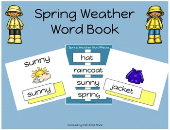 Spring Weather Leveled Word Books (Adapted Book)