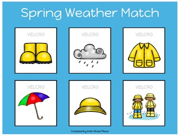 Spring Weather Match Sheets