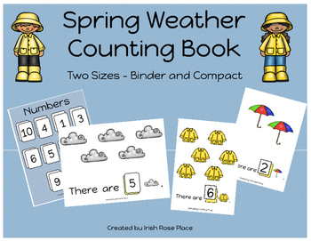 Spring Weather Math Bundle with Adapted Books