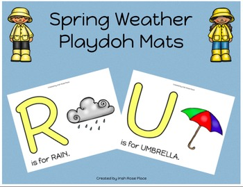Spring Weather Playdoh Mats