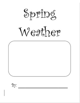 Spring Weather Research Writing Book