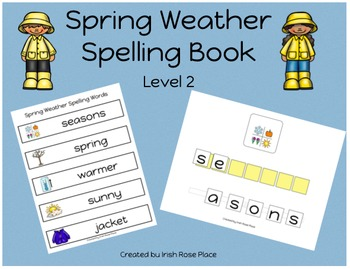 Spring Weather Spelling Book (Adapted Book)