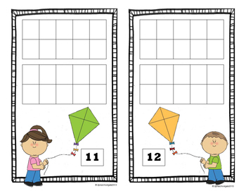 Spring Weather 10 Frame Counting Mats (11-20)