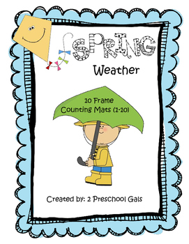 Spring Weather 10 Frame Counting Mats (1-10)