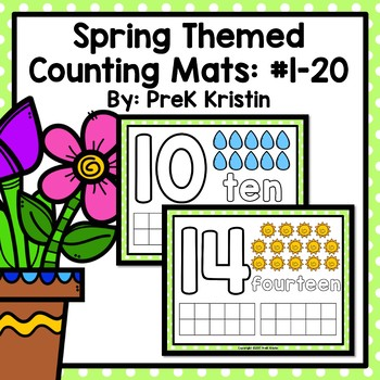 Spring (Weather) Themed Playdough Counting Mats