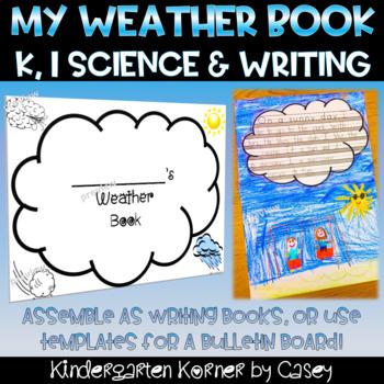 Spring Weather Writing Book - NO PREP  Kindergarten 1 2 Science
