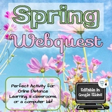 Spring Webquest - Online Distance Learning - Editable in G