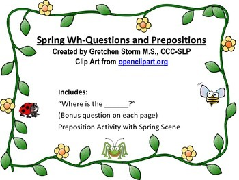 Spring Wh-Questions and Prepositions