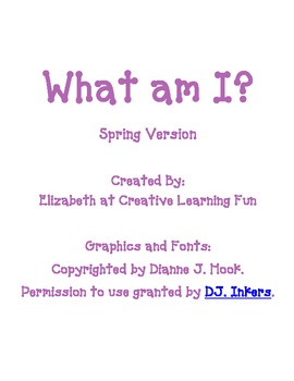 "Spring ""What Am I?"" Game"