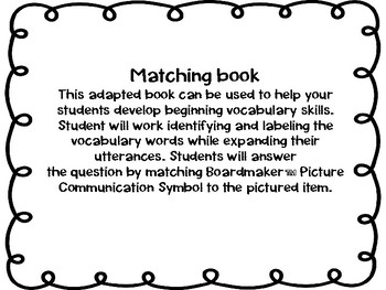 Spring, What Do You See? Matching and Sentence Completion Book for Vocabulary