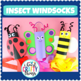 Spring Windsock Crafts | Butterfly, Bee and Ladybug Insect Crafts