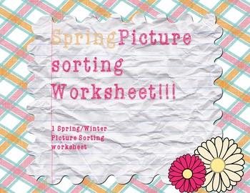 Spring/Winter Sorting Sheet