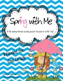 "Spring With Me - A Suffix ""ing"" Activity Set"
