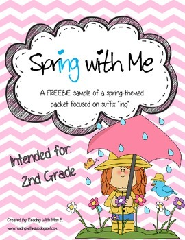 "Spring With Me - A suffix ""ing"" FREEBIE Activity SAMPLE Set"