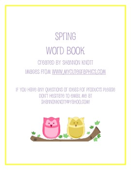 Spring Word Book
