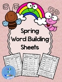 Spring Word Building for Grade 1