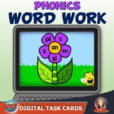Spring Word Building with Word Families Digital Boom Task Cards
