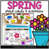 Spring Word Cards and Activities