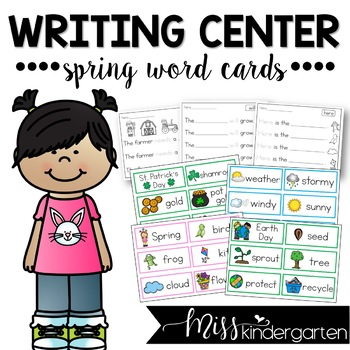 Writing Center Spring Word Cards