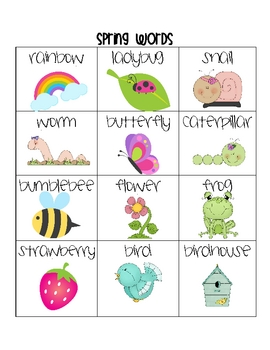 Spring Word Chart